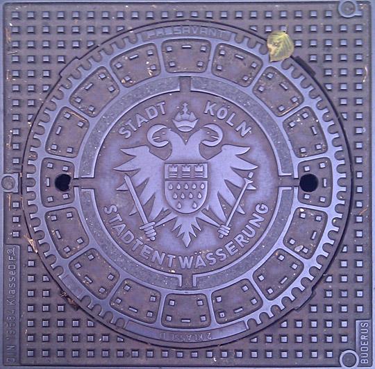 Канализационный люк в Кёльне